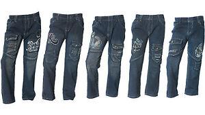 Neue-CooLe-Jungen-Jeans-Hosen-3-5st-Gummizug-gr86-158-Kinderhosen-Paket-Neu