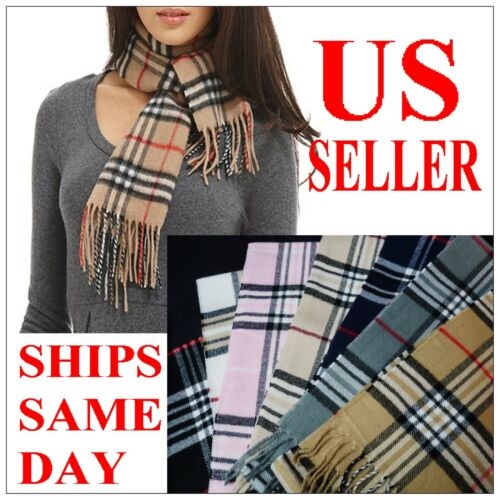New 100% Cashmere Feel Scarf Plaid Wrap Warm Camel Check Beige Unisex WHOLESALE in Clothing, Shoes & Accessories, Women's Accessories, Scarves & Wraps | eBay