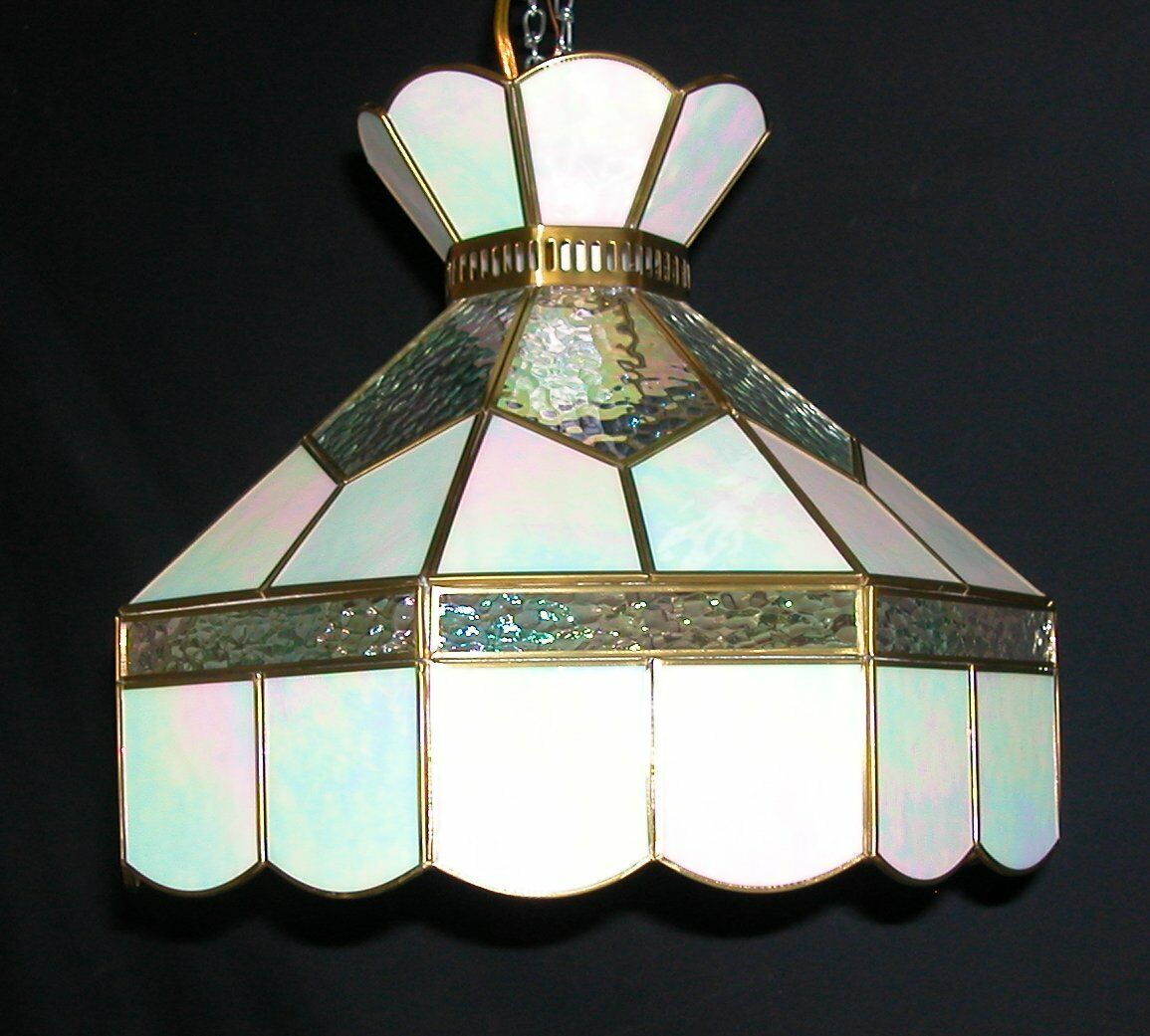 tiffany style stained glass hanging land light fixture swag. Black Bedroom Furniture Sets. Home Design Ideas
