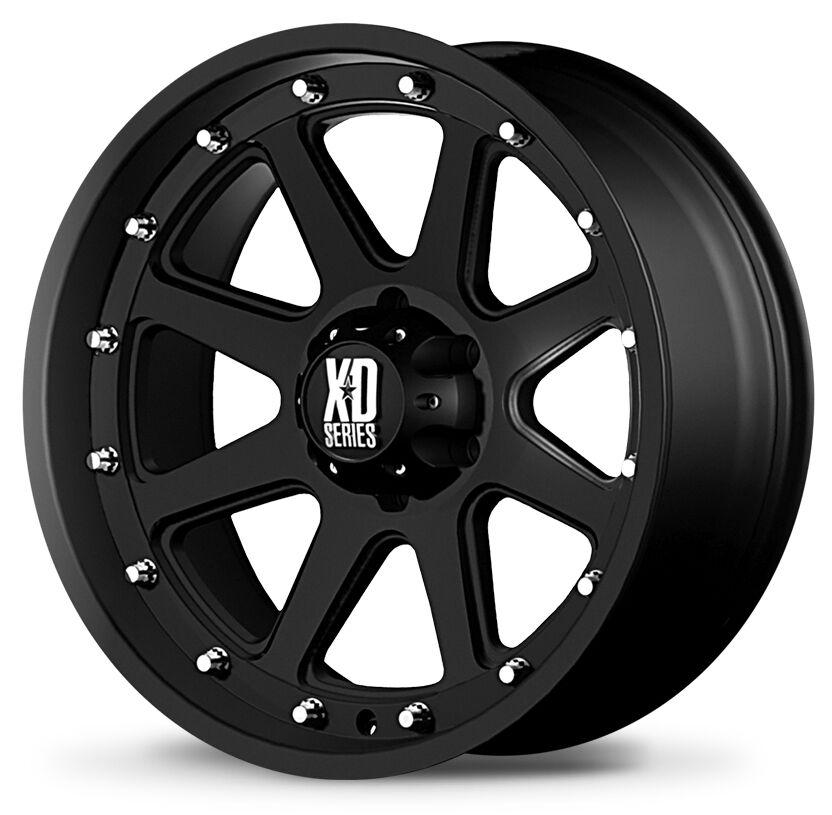 New 17x9 KMC XD Addict XD798 Black Wheels Rims 5x5 Jeep JK Rubicon Wrangler Set4
