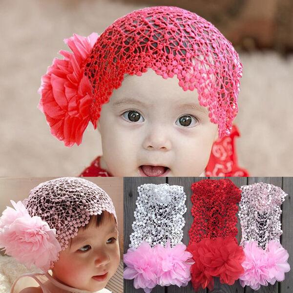 New 1pc Beautiful Baby Kids Girls Cute Mesh Flower Hair Band Headband 3 Colors