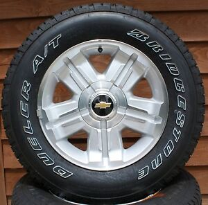 Rims  Tires Package on Chevy Silverado Suburban Tahoe Avalanche 18  Z71 Aluminum Wheels Tires