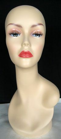 New 21H Flesh Female Mannequin Head Torso Form Bust 1