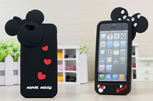 New 3D Black Disney Minnie Mickey Mouse Bow Silicone Case Cover for iPhone 5/5G in Cell Phones & Accessories, Cell Phone Accessories, Cases, Covers & Skins | eBay