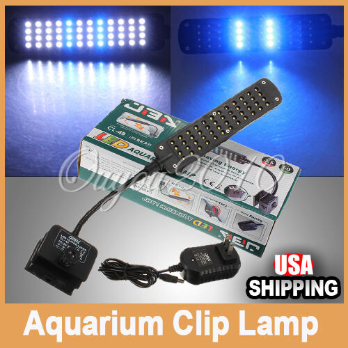 New 48 LED Aquarium Fish Water Plant 2 Mode Clip White & Blue Light Bulb Lamp in Pet Supplies, Aquarium & Fish, Lighting | eBay