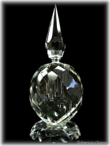 "New 5"" Art Deco Cut Crystal Perfume Bottle in Gift box in Collectibles, Vanity, Perfume & Shaving, Perfumes 
