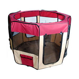"New 57 / 58 "" Dog Red Pet Puppy Kennel Exercise Pen Playpen in Pet Supplies, Dog Supplies, Fences & Exercise Pens 