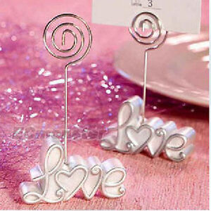 New 6 pcs love card holder stand table number wedding for Table 6 gift card
