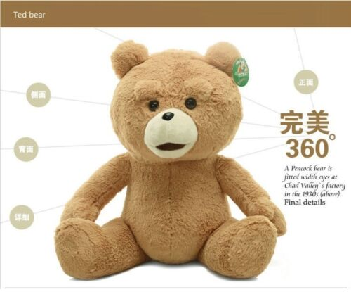 New 60cm Teddy Bear Ted The Movie X R Plush Dolls ted bear toy bear lovely bear in Dolls & Bears, Bears, Other | eBay