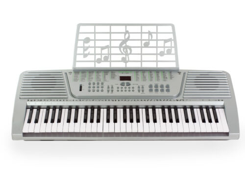 New 61 Key Electronic Music Keyboard Electric Piano Silver in Musical Instruments & Gear, Electronic Instruments, Electronic Keyboards | eBay