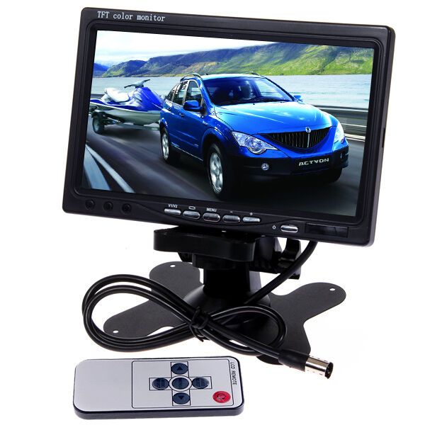 New 7 TFT LCD Color Car Rearview Headrest 16 9 Monitor DVD VCR with