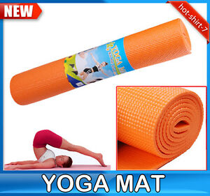 Yoga Bags on Deluxe Exercise Yoga Mat Pad Thickening 6 3 Mm With Bag Orange   Ebay