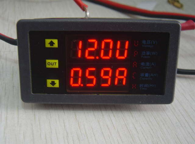 Backup Battery For Amp Meter : Dc battery monitor meter volt amp hour power ah golf solar
