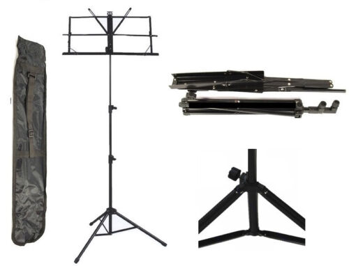 "New Adjustable 25""-55"" Folding Sheet Music Sheet Stand +FREE Carrying Gig-Bag in Musical Instruments & Gear, Equipment, Stands 