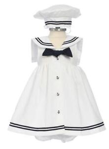 New BABY GIRL toddler ANCHOR white navy sailor dress in Clothing, Shoes & Accessories, Baby & Toddler Clothing, Girls' Clothing (Newborn-5T) | eBay