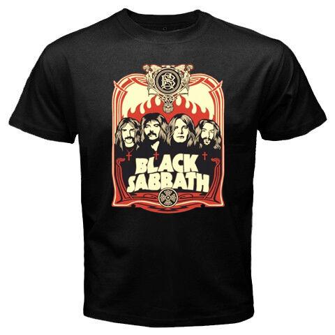 New BLACK SABBATH Hard Heavy Metal Rock Band Mens Black T Shirt Size S