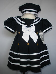 New Baby Girl Toddler Formal Sailor Party Dress Outfits S,M,L,XL,2T,3T, Navy in Clothing, Shoes & Accessories, Baby & Toddler Clothing, Girls' Clothing (Newborn-5T) | eBay