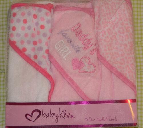 New Baby Kiss Pink Jungle Jill Animal Daddy's Girl Hooded Towel Bath Set in Baby, Bathing & Grooming, Towels & Washcloths   eBay