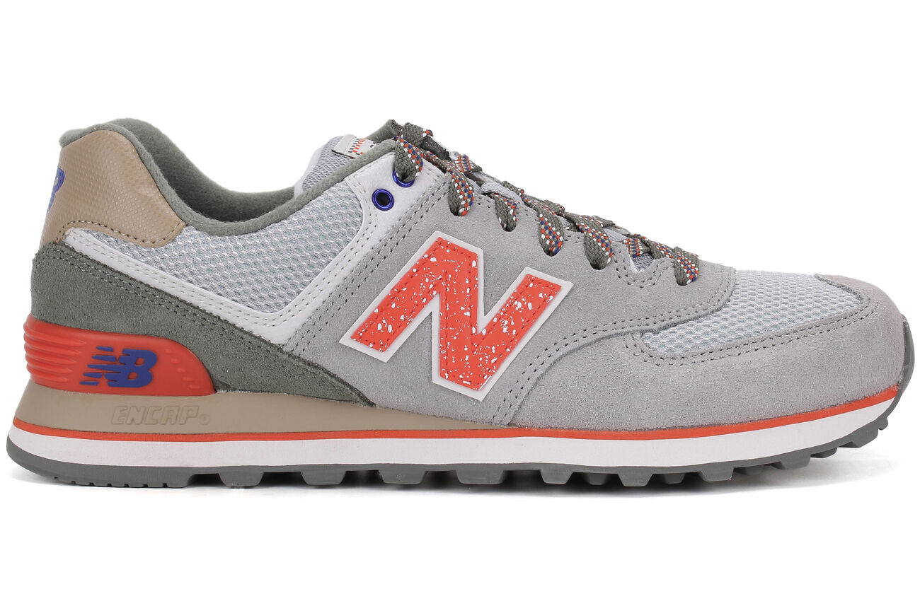 super popular 6bc01 015bf netherlands mens new balance 574 orange italy a0458 891bb
