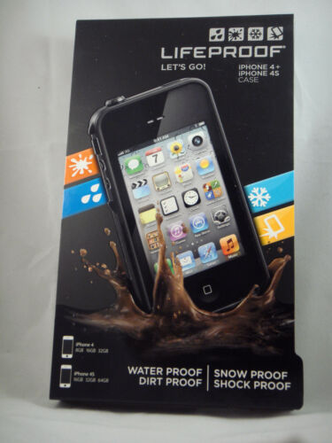 New Black Lifeproof Case for iPhone 4/4s 2nd Gen In Retail Box At&t Verizon in Cell Phones & Accessories, Cell Phone Accessories, Cases, Covers & Skins | eBay