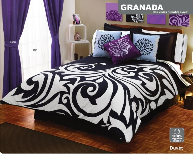 new black white duvet comforter sheets bedding set queen 12pc ebay
