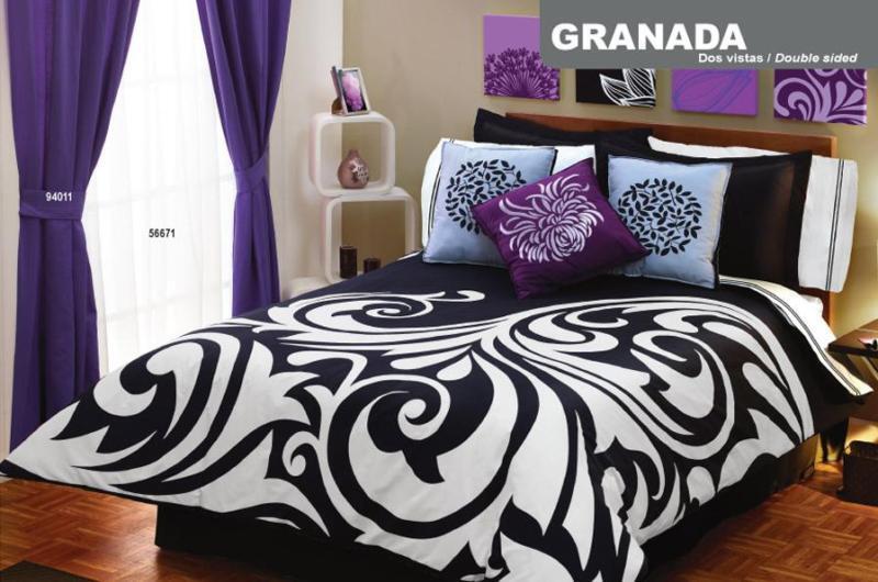 new black white purple duvet comforter bedding sheet sheet