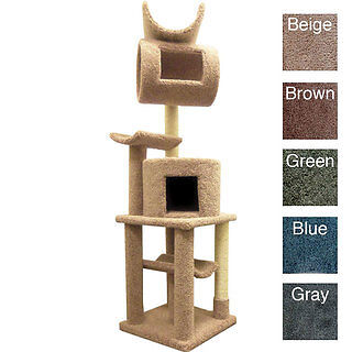 "New Cat Tree Scratching Post Playstation 72"" Cat House ~ SOLID WOOD 110007 NEW in Pet Supplies, Cat Supplies, Furniture & Scratchers 