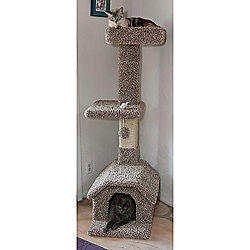 New Cat Tree Scratching Post Toy 4.5 Ft Cat House Condo Bed 110003 ~ NEW in Pet Supplies, Cat Supplies, Furniture & Scratchers | eBay