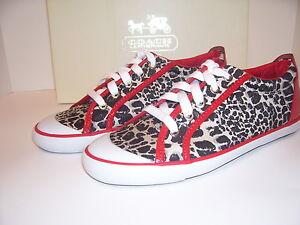 new coach barrett cheetah print sneakers tennis shoes