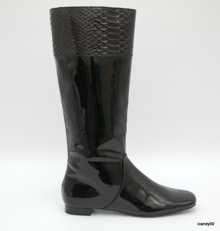 new coach fresna patent leather knee high flat boot