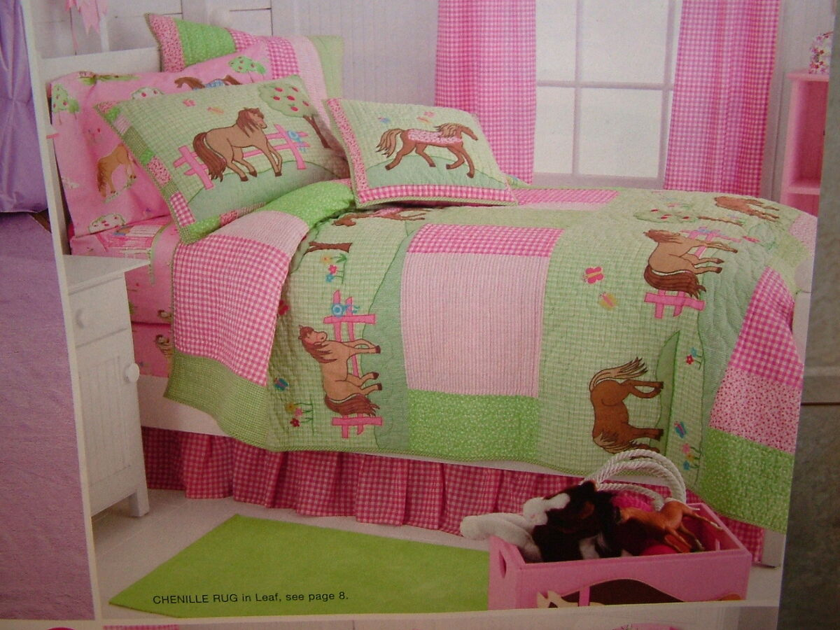 New Company Kids Company Store Bedding Pony Dreams Quilt Blanket $149 Sold Out