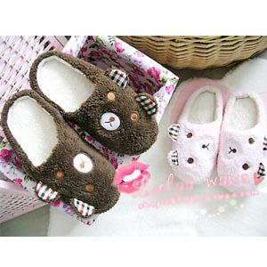 New Couples Women Men Warm Cute Velvet Panda Slippers House Home Shoes