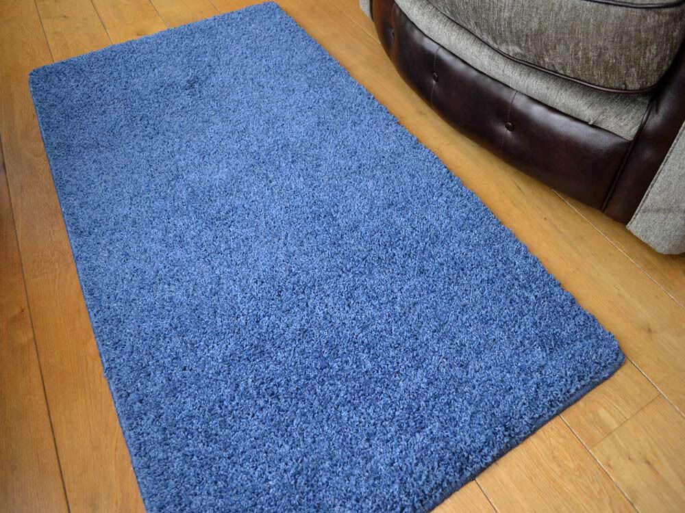 New Denim Blue Very Thick Machine Washable Soft Plain