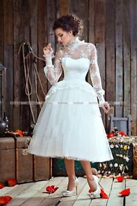 Backless Dress on New Design Tea Length Backless Long Sleeve Ball Gown Lace Vintage