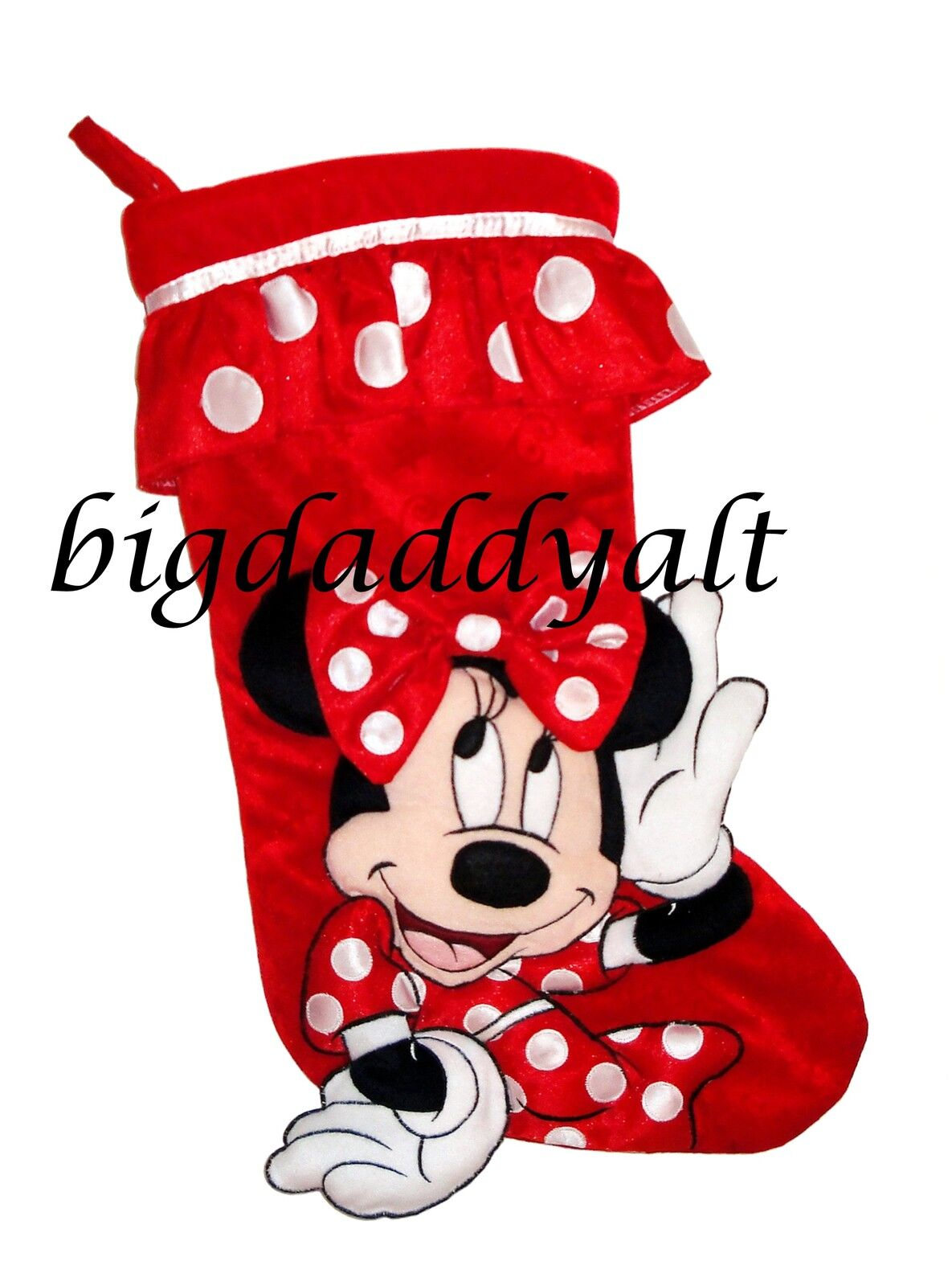 New disney parks minnie mouse plush holiday christmas - Minnie mouse noel ...