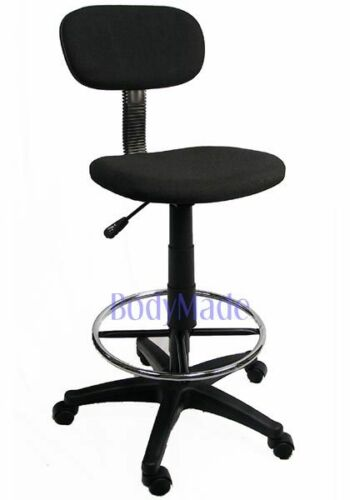 New Drafting Chair Stool Adjustable Black Fabric Office in Business & Industrial, Office, Office Furniture | eBay