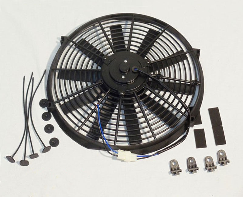 New Electric Fan : Quot electric radiator cooling fan straight blade cfm