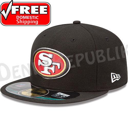 New Era 59FIFTY SAN FRANCISCO 49ers - Official NFL Sideline Cap Fitted Hat Black in Sports Mem, Cards & Fan Shop, Fan Apparel & Souvenirs, Football-NFL | eBay