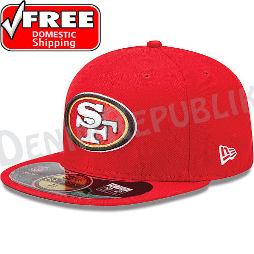 online retailer effb3 27f25 New Era 59FIFTY SAN FRANCISCO 49ers - Official NFL Sideline Cap Fitted Hat  Red in Sports