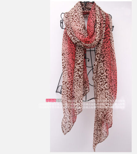 New Fashion Women Girl's Leopard Print Long gradient color Scarf Wrap Shawl in Clothing, Shoes & Accessories, Women's Accessories, Scarves & Wraps | eBay