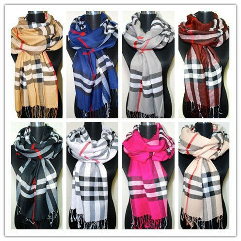 New Fashion Women's Long Soft Plaid Wrap Lady Shawl Stole Scarf 5 Colors in Clothing, Shoes & Accessories, Women's Accessories, Scarves & Wraps | eBay