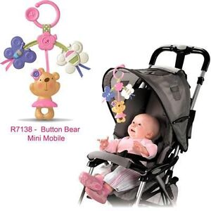 new fisher price little buttons linking mobile infant baby car seat stroller toy ebay. Black Bedroom Furniture Sets. Home Design Ideas
