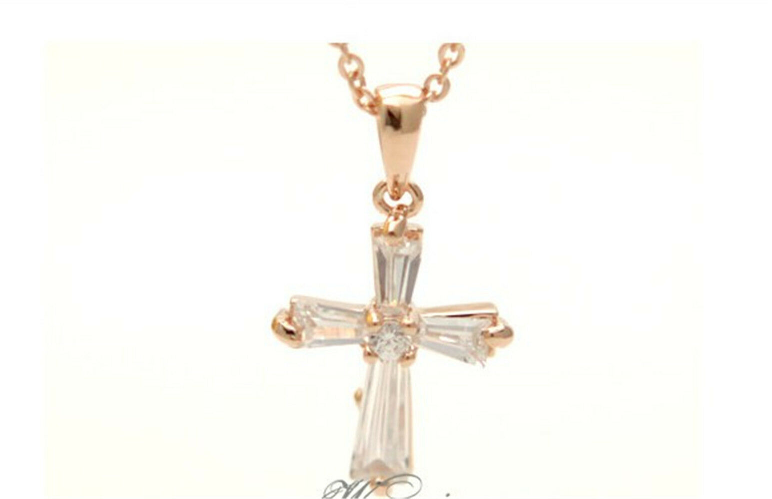 new christi catholic cross 14 k yellow gold