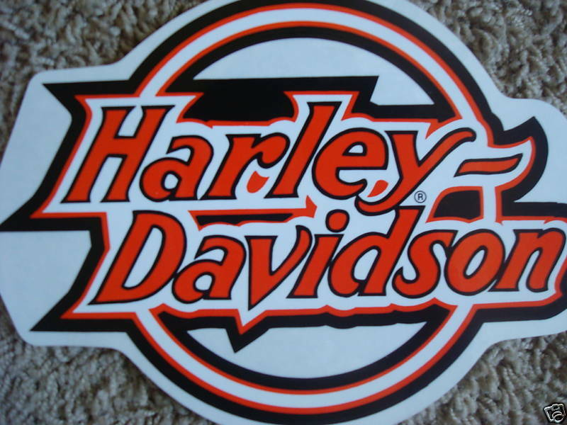 New Harley Davidson Circle Logo Window Decal Sticker