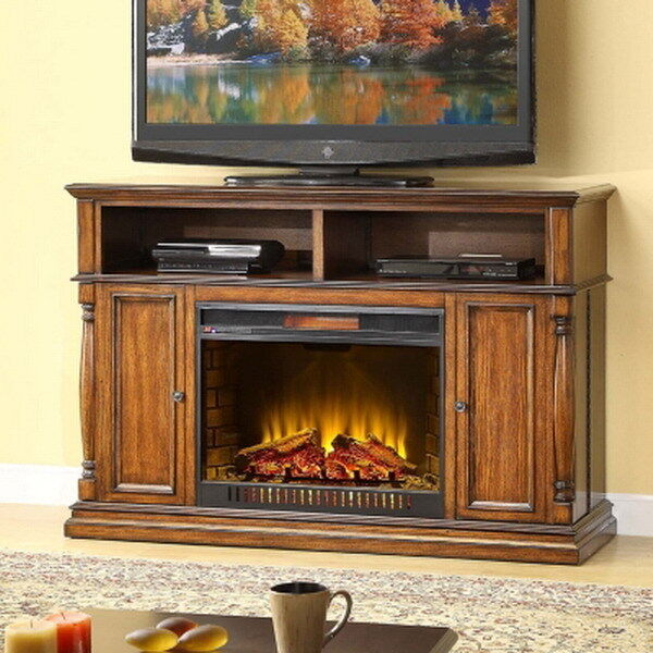 electric fireplace heater media entertainment console tv