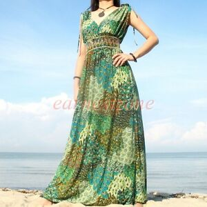 Size Party Dress on Evening Sundress Hot Party Peacock Plus Size Long Maxi Dress 2x 18 20