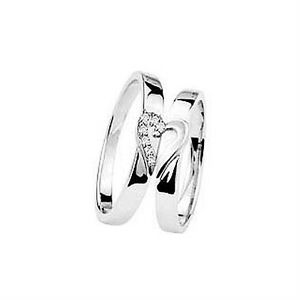 New His And Hers Matching Diamond Wedding Ring Set 9ct White Gold Band EBay