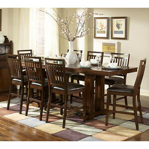 decor dining room furniture harper 9 piece counter height table set