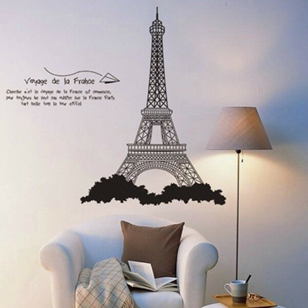 decor wall sticker removable decal room wall sticker decor paris tower