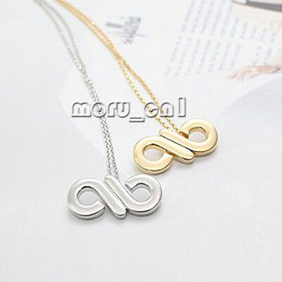 New INFINITE - Logo Simple Necklace Gold / Silver + Gift Box Free Shippng
